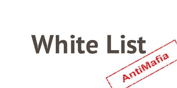 """Iscrizione nella """"White List"""""""